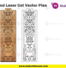 long vertical wall temple furniture engraving plate design dxf