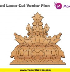 Top plate home temple cnc engraving design dxf