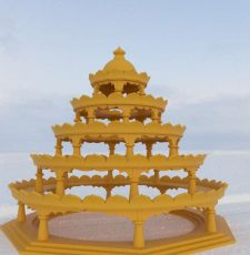 Art of living Vishalakshi Mandap resemble miniature model STL file for 3D Printing