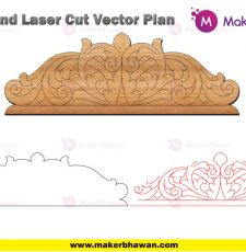 home temple top 2 engraving part design DXF