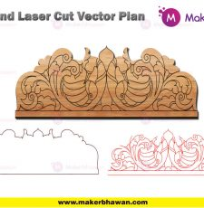 Home temple top engarving part design DXF CDR