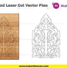 Vertical wall home temple engraving part design DXF CDR