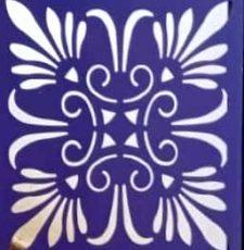 squre rangoli design