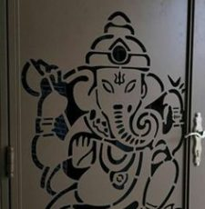 Ganesh with sun moon door cnc design