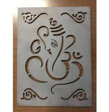 CNC om Ganpati curl design
