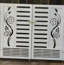 CNC metal curl gate design