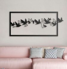 Flying bird wall art design