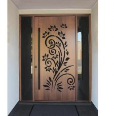half flower safety door