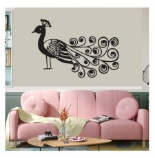 peacock wall art design