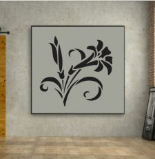 lily flower wall art design