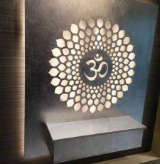cnc wall art chakra om design
