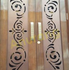 Laser cut double safety door design