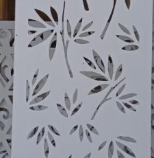 Leaf branches plate design