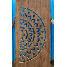 Half rangoli door design