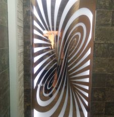 Metal cnc waves jali design