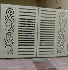 Mirror curl cnc gate design