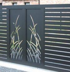 grass metal gate design