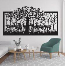 Laser cut tree decore wall art design