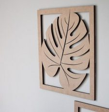 big leaf wall art design