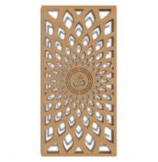 Om Corian MDF Jali Laser CNC Design