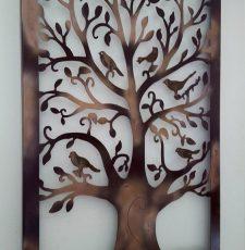 tree with bird wall art design