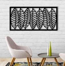 Big leaf wallart design