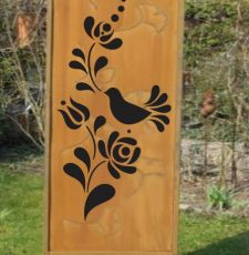 Bird garden panel design