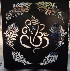 Ganesh feather frame design