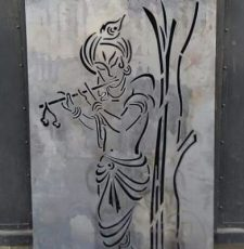 Krishna flutes under a tree design