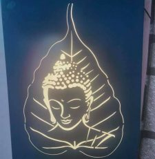 gautam buddha leaf vector design