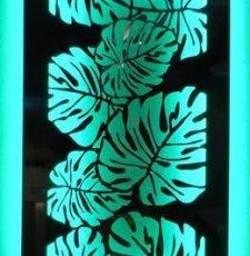 leaf decorative design panel