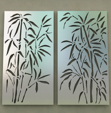tree metal plate gate design