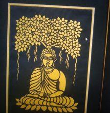 gautam buddha cutting and engraving design