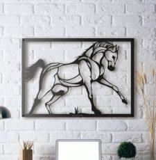 running horse wall art design
