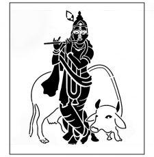 krishna laser engraving design