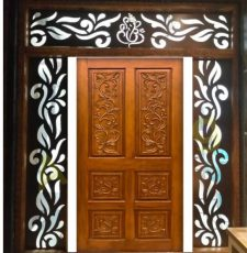 Main door Ganpati frame design
