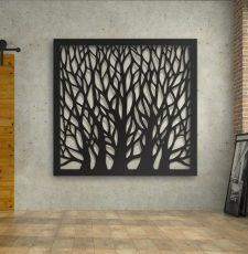 dry tree wall art design