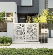 flower main metal gate design