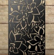 lotus floral metal plate design