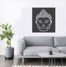 Gautam bhudhha face wallart design