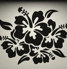 Hibiscus flower wall art design