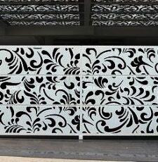 floral main metal gate design