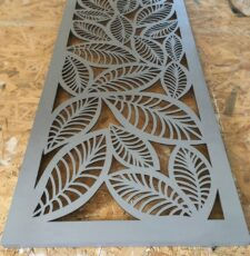 cnc leaves grill design vector
