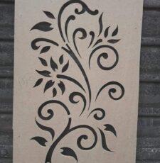 flower curl plant design