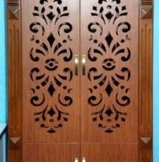 wooden home temple gate design