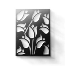 CNC Lily flower wall art design