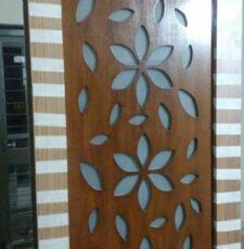 cnc flower jali partition panel