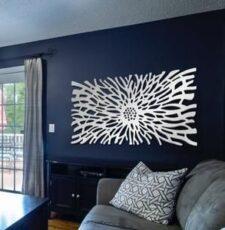sun wave acrylic wall art