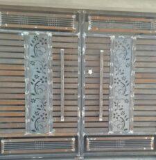 curl design metal plate gate