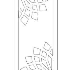 half flower design